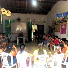 Encontro intergeracional com famílias é realizado na Lagoa do Carneiro em Acaraú (CE)