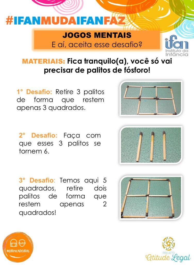 BRINCADEIRA 11. DESAFIO COM PALITOS