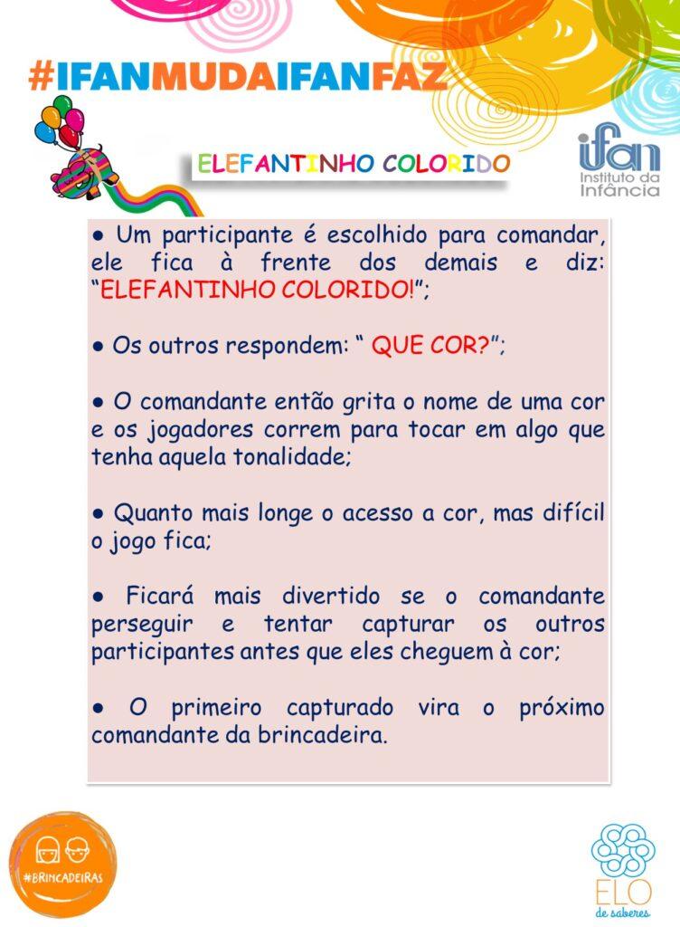 Brincadeira - Elefantinho Colorido 24042020