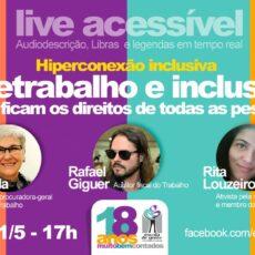"""Live """"Teletrabalho e inclusão em tempos de quarentena""""."""
