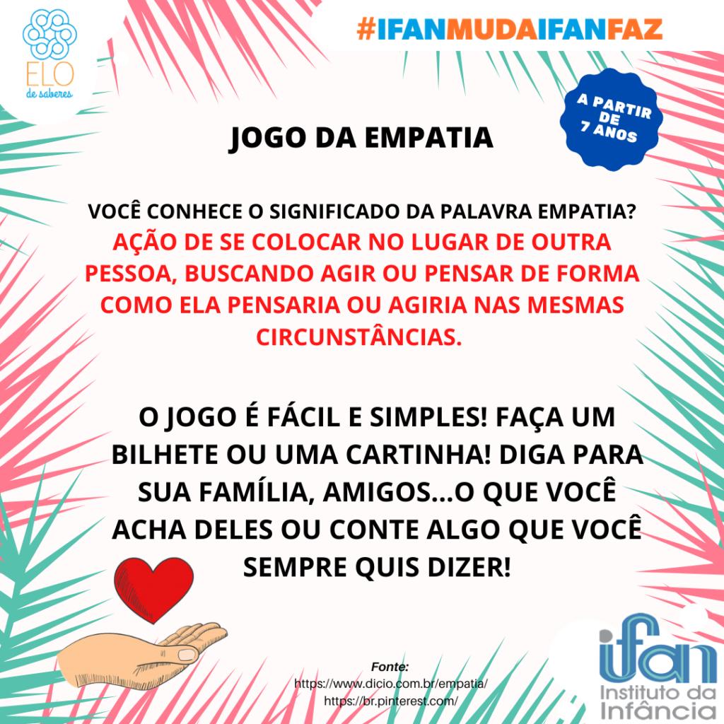 JOGO DA EMPATIA - ELO DE SABERES 01092020
