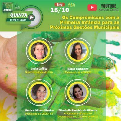 Quinta com Debate – Os Compromissos com a Primeira Infância para as Próximas Gestões Municipais